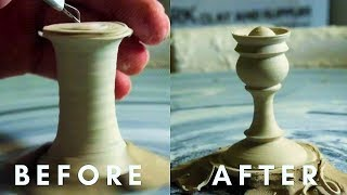 EXTREMELY SATISFYING Pottery || Carving, Forming & Painting