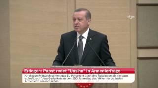 Erdoğan: Papst redet