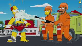 The Simpsons - Sky Police (Homer Becomes Duffman) [Funny Simpsons Clips]