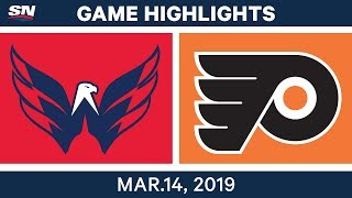 NHL Highlights | Capitals vs. Flyers  – Mar 14, 2019