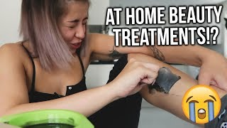 TESTING AT HOME BEAUTY PRODUCTS. DO THEY REALLY WORK!? MYLEE GEL NAILS, LEG WAXING + MORE!