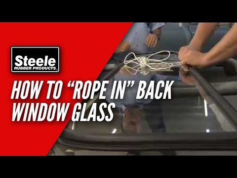 How To Replace Back Window Glass Seal With Cord Youtube