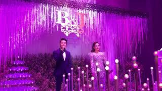"""Bảo Thy song ca Quang Vinh """"Ngôi nhà hoa hồng"""" tại đám cưới anh trai"""