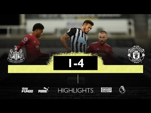 Newcastle United 1 Manchester United 4 | Premier League Highlights