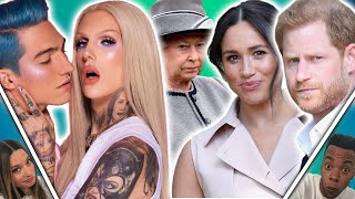 Jeffree Star & Nate BROKEN Up! The Queen REACTS To Meghan & Harry Quitting Royals?! (Celeb Lowdown)