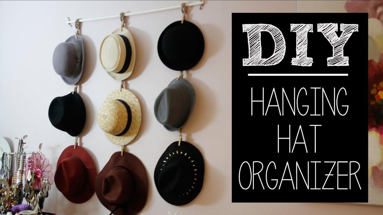 Diy Hat Hanger Organizer Easy Beautybitten Youtube