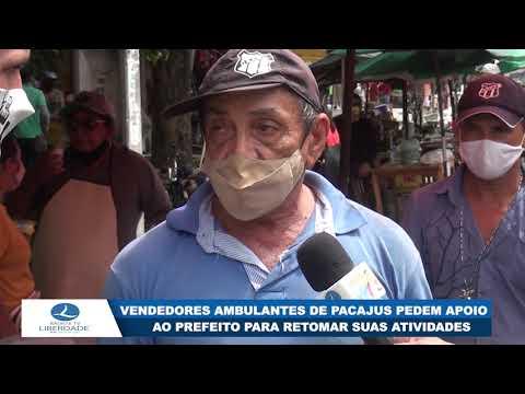 VENDEDORES AMBULANTES DE PACAJUS PEDEM APOIO AO PREFEITO PARA RETOMAR SUAS ATIVIDADES