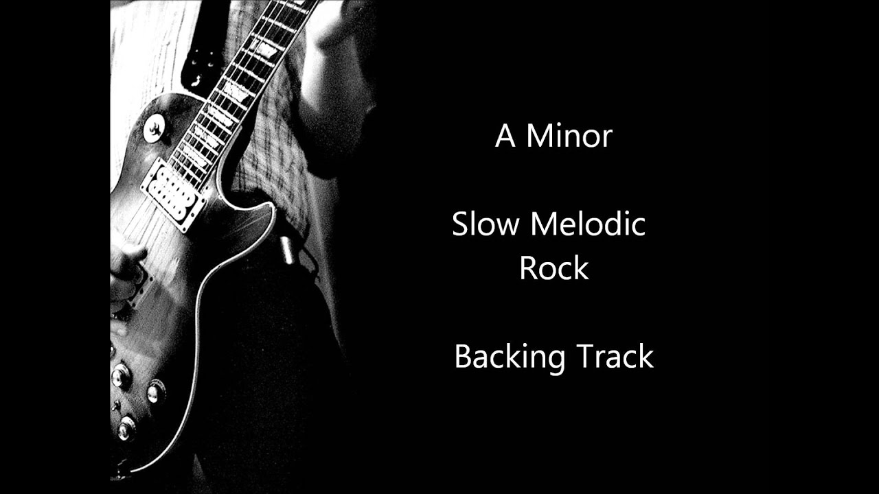 minor rock backing track
