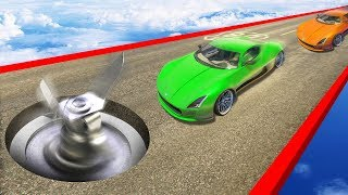 EXTREME DODGE THE BLENDER CHALLENGE! (GTA 5 Funny Moments)