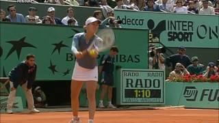 Martina Hingis vs Sandrine Testud 2001 RG Set 3 Highlights