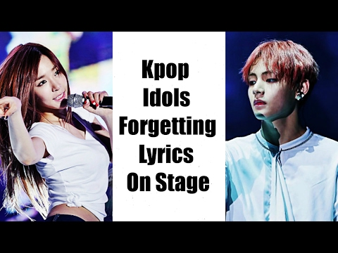 Kpop Idols Forgetting Lyrics On Stage