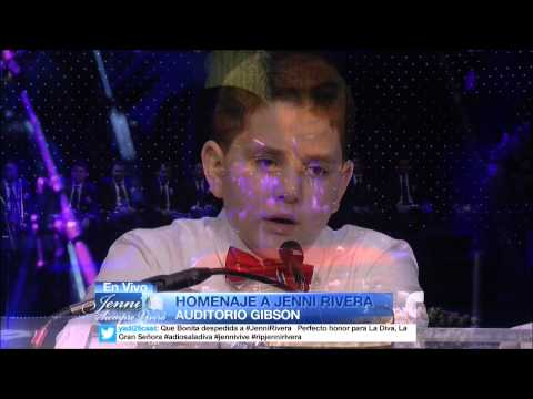 Funerales de Jenni Rivera - Habla su Hijo menor en emotivo Homenaje 12/19/2012