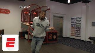Michael B. Jordan re-creates Michael Jordan's most iconic moments | ESPN Archives