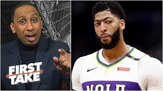 Anthony Davis' minutes restriction isn't fair to the fans – Stephen A. | First Take