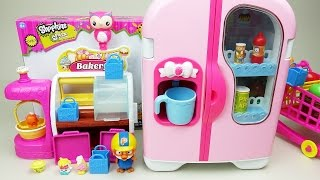 Shopkins and Refrigerator food Baby doll Pororo toys