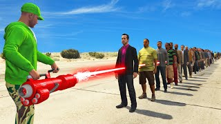 NEW $1,450,000 LASER CANNON TEST! (1 Laser vs. 100 People)