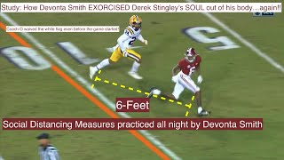 Study: Bama's Devonta Smith DELETED Derek Stingley's soul...again!