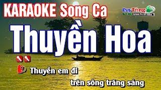 Karaoke || Thuyền Hoa - Song Ca || Nhạc Sống Duy Tùng