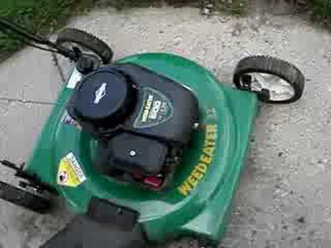 2007 Weed Eater Lawnmower Repaired Youtube