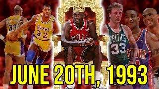 The Day Michael Jordan OFFICIALLY Became The GOAT