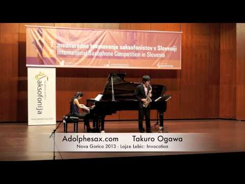 Takuro Ogawa - Nova Gorica 2013 - Lojze Lebic: Invocation