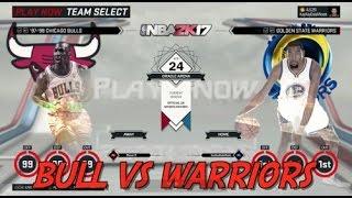 MICHAEL JORDAN'S & SCOTTIE'S BULLS VS CURRY'S & KD'S WARRIORS. NBA 2K17