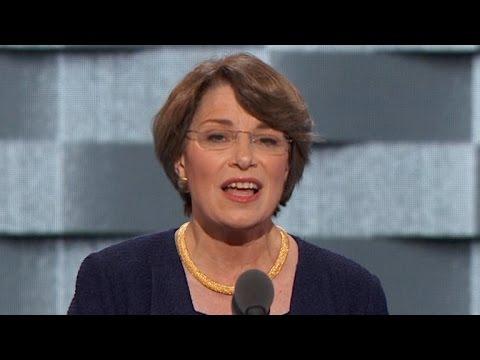 Senator Amy Klobuchar addresses DNC
