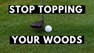 STOP TOPPING YOUR WOODS - Learn to hit a wood off the ground