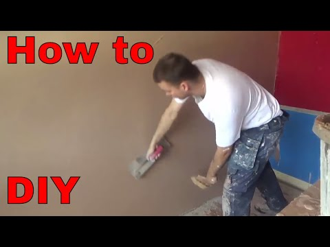 HOW TO PLASTER A WALL diy