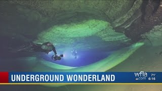 Cave divers capture beautiful images, map areas near Weeki Wachee Springs