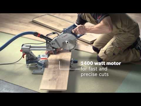 Bosch GCM800SJ 216mm Sliding Mitre Saw Single Bevel 110v