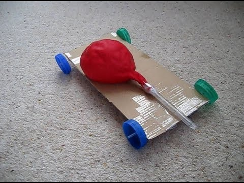 How To Make An Air Powered Balloon Car Youtube