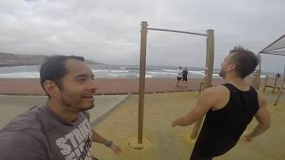 How to keep fit when you are in holiday  - Travel and training in ( Las Palmas Gran Canaria )