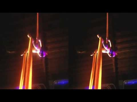 Aerial Dancer performs @ The Crucible (YT3D:Enable=True)