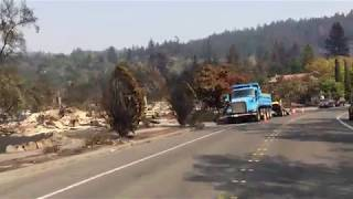 Santa Rosa Fires: Stagecoach Road & Sleepy Hollow Drive in Fountaingrove