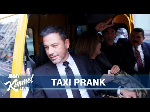 Jimmy Kimmel Surprises New Yorkers in a Cab