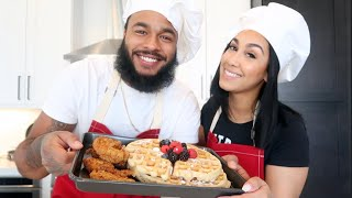 COOKING WITH THE ROYAL FAMILY | CHICKEN & WAFFLES