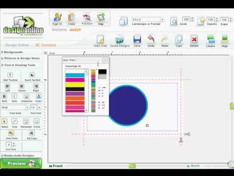Online Design Center - How to Design Shapes