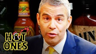 Andy Cohen Spills the Tea While Eating Spicy Wings | Hot Ones