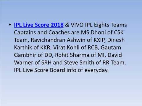 IPL 2018 Live Score Cricket Match Highlights - T20 IPL Score Card Updates