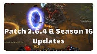 Diablo 3: Season 16 & Patch 2.6.4 Updates (Release, Nerfs, Wirts Bein)