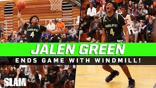 Jalen Green hits the WINDMILL with Bill Self watching!? 💨