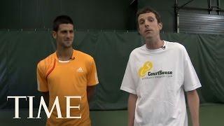Novak Djokovic's John McEnroe Impression & Free Tennis Lessons | TIME