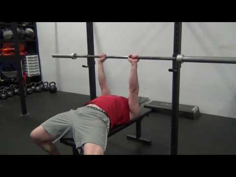 Close grip Bench Press demo