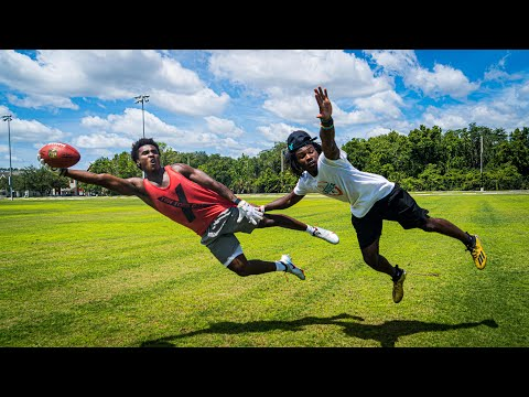 1ON1S AGAINST 5-STAR OKLAHOMA FOOTBALL COMMIT!! (#1 RANKED WR)