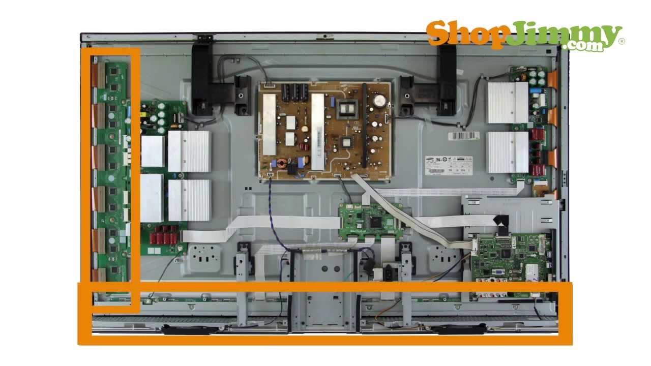 lcd tv diagram components samsung plasma tv repair tutorial - identifying samsung ... lcd tv installation diagram