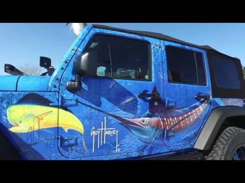 Check out the Custom Guy Harvey Jeep JK!