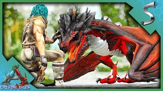 HATCHING AND RAISING MY FIRST BLOOD CRYSTAL WYVERN! - Ark: Crystal Isles [DLC E5]