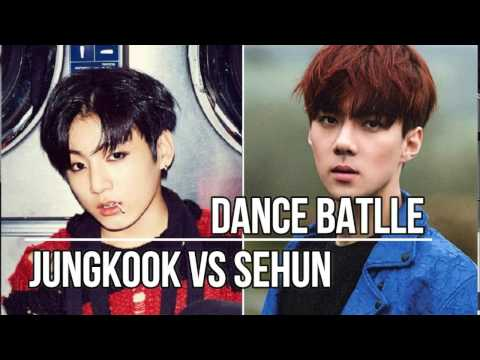 BTS Jungkook VS EXO Sehun -  Dance Battle