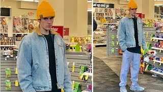Justin Bieber Buys Flowers For Hailey At The Pharmacy!